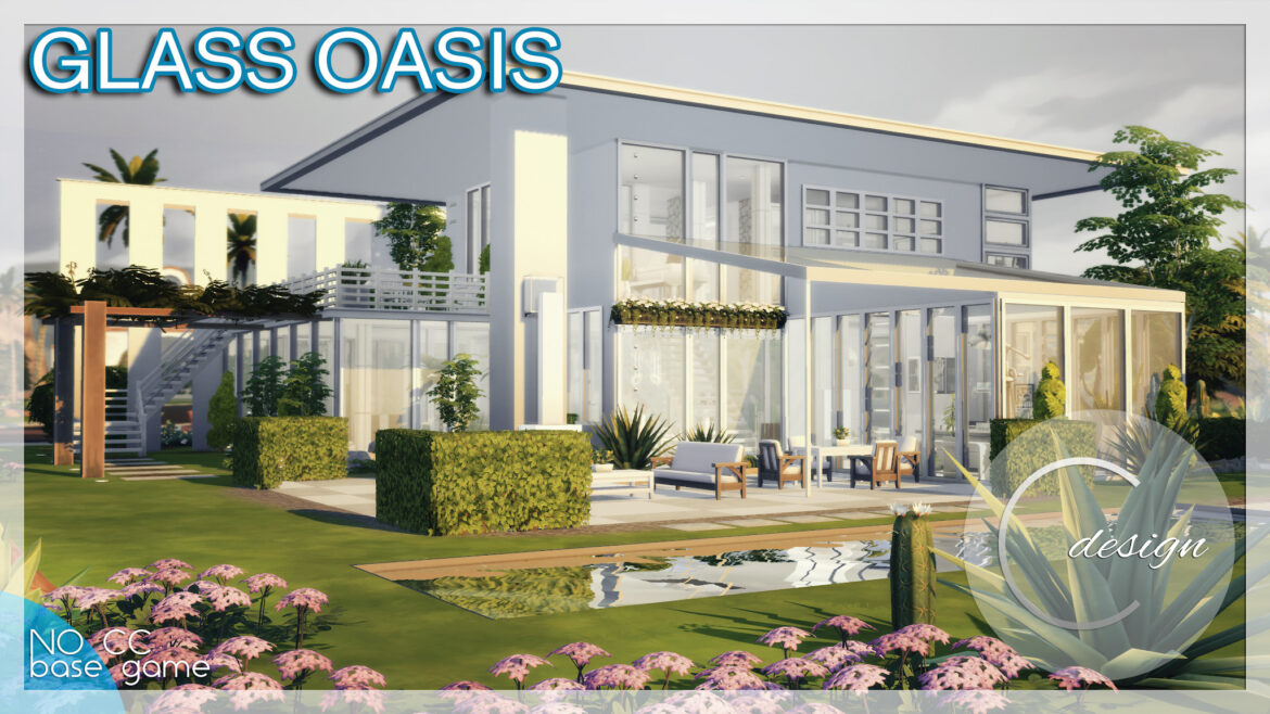 GLASS OASIS HOUSE BY CROSS DESIGN