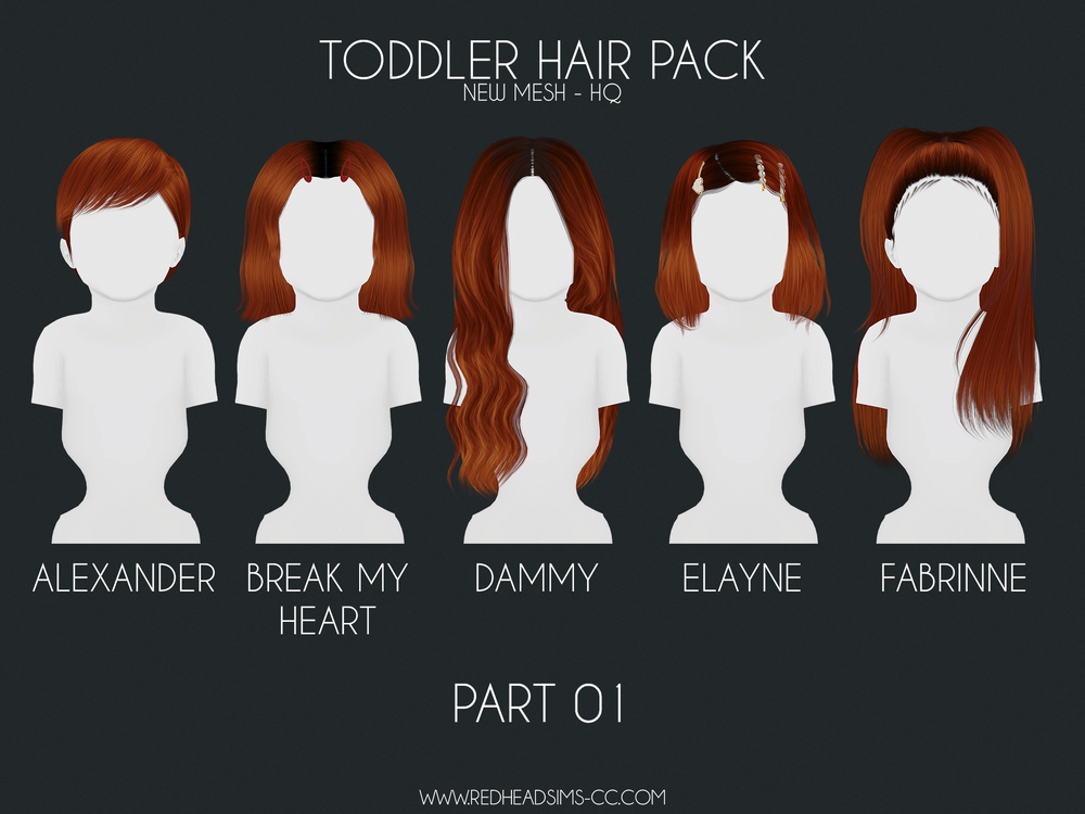 HAIR PACK: KIDS + TODDLER BY REDHEADSIMS