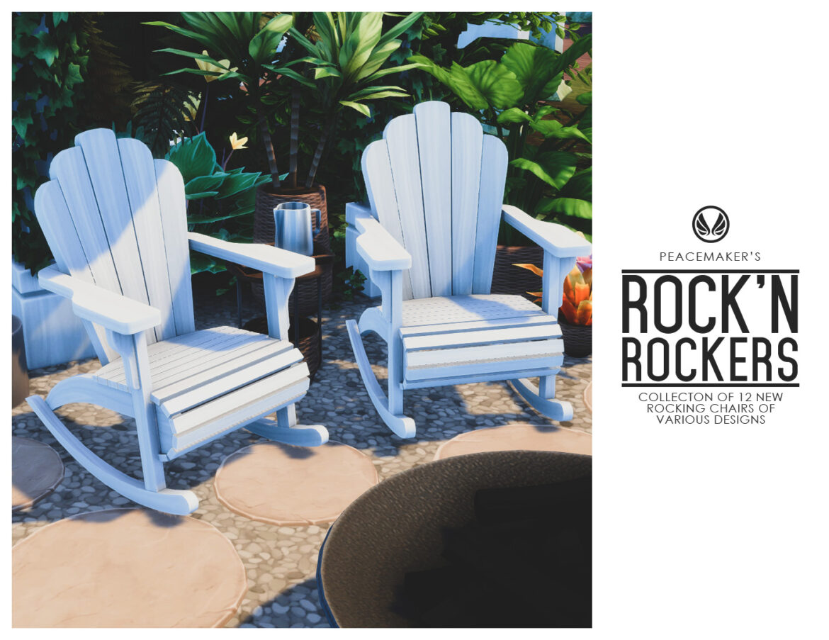 ROCK'N ROCKERS COLLECTION OF 12 ROCKING CHAIRS BY SIMSATIONAL DESIGNS