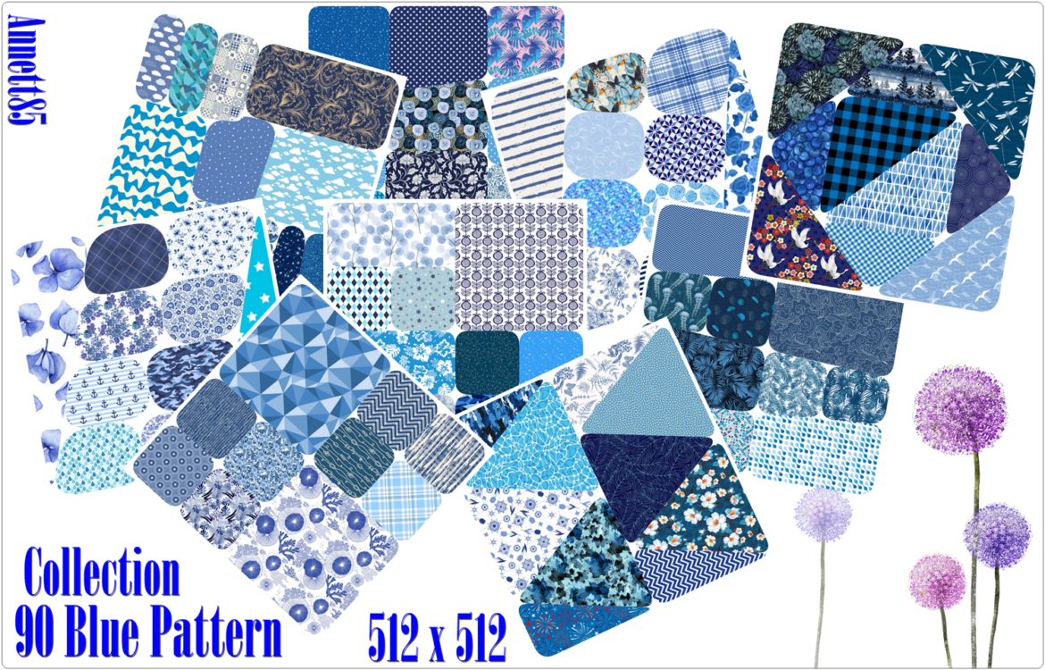 COLLECTION 90 BLUE PATTERN BY ANNETT'S SIMS 4 WELT