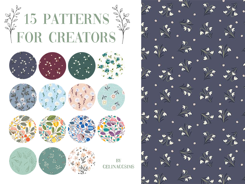 15 PATTERNS SET FOR CREATORS BY CELINACCSIMS