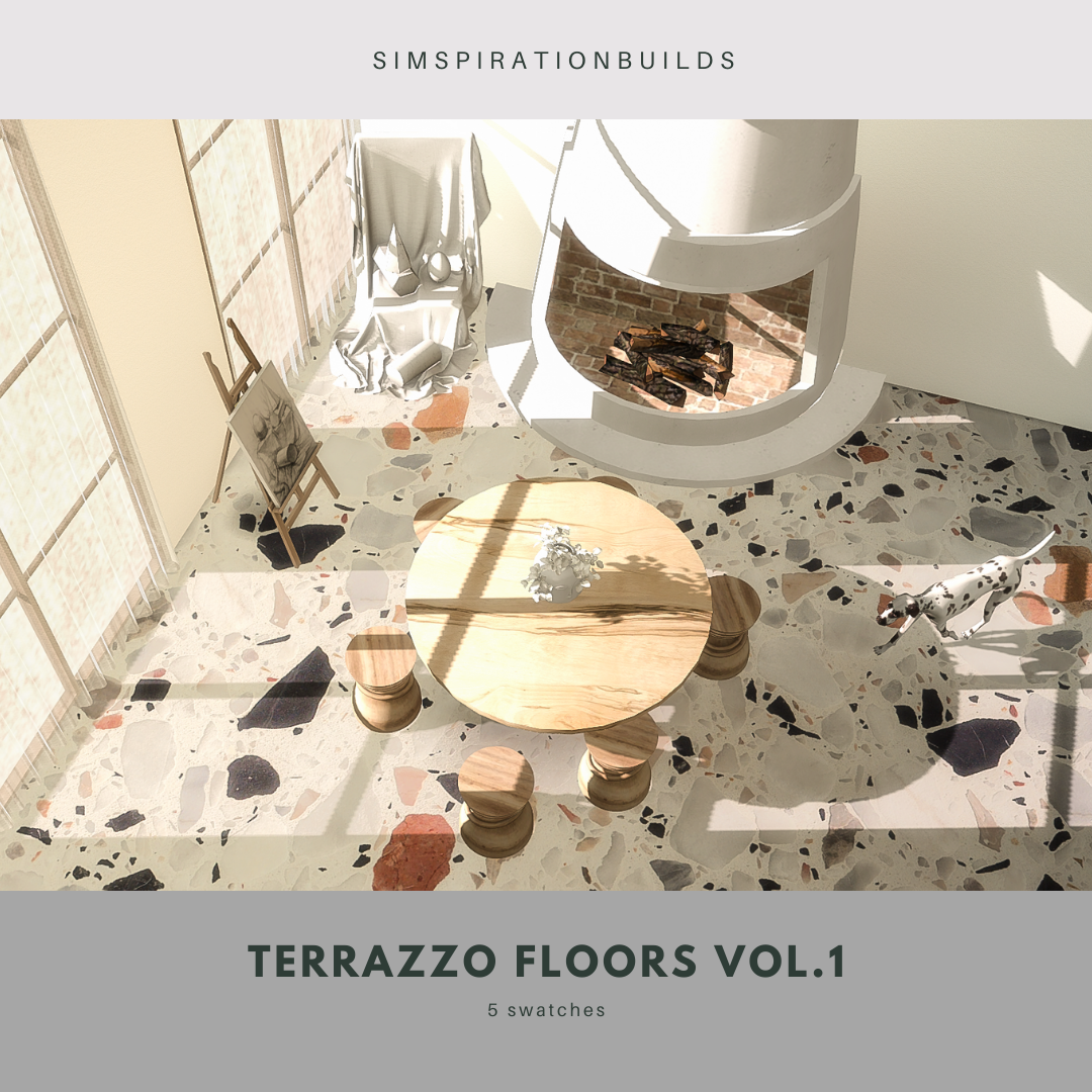 TERRAZZO FLOORS VOL.1 BY SIMSPIRATION BUILDS
