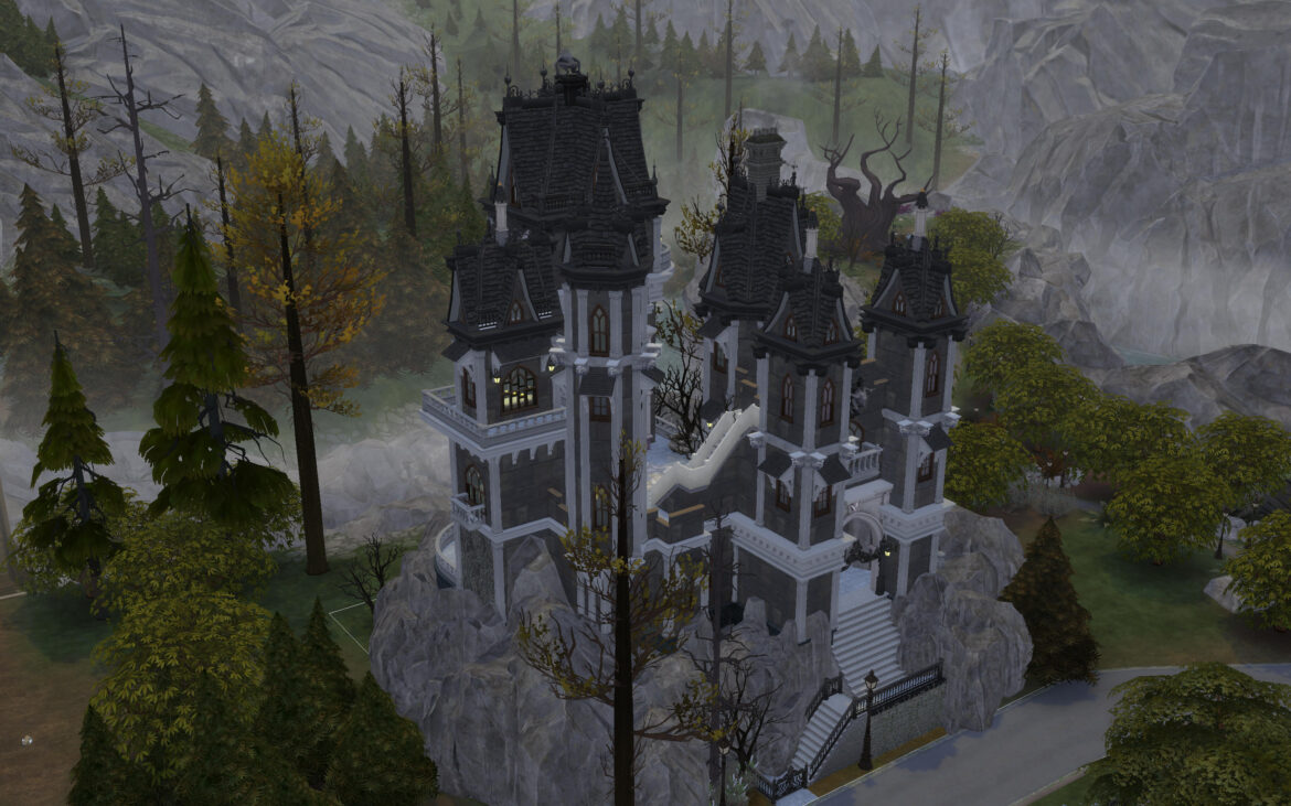 THE VAMPIRE CASTLE BY ALEXIASI BY MOD THE SIMS