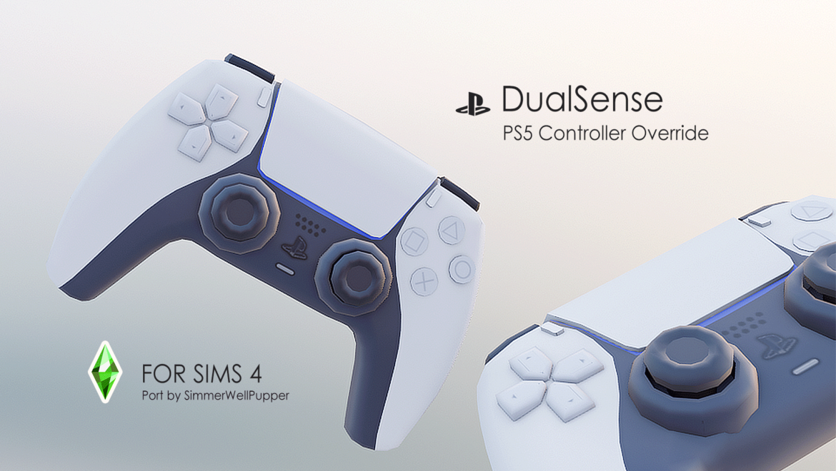 PS5 DUALSENSE CONTROLLER OVERRIDE FUNCTIONAL BY SIMMERWELLPUPPER AT MOD THE SIMS