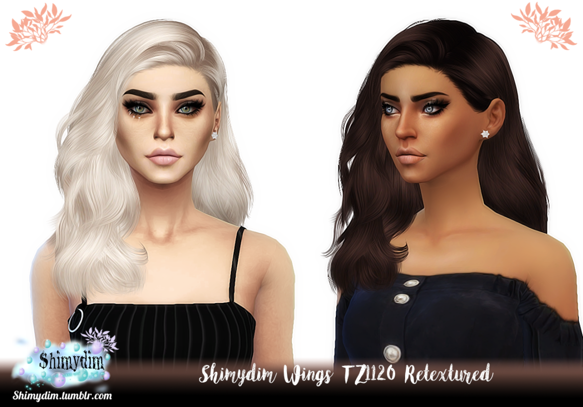 WINGS TZ1120 HAIR RETEXTURE BY SHIMYDIM SIMS