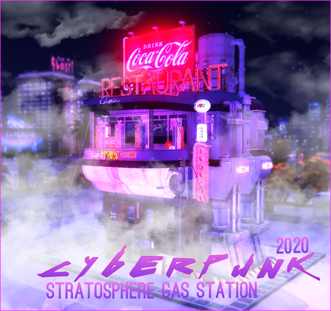 CYBERPUNK 2020 STRATOSPHERE GAS STATION BY SOULSISTERSIMS