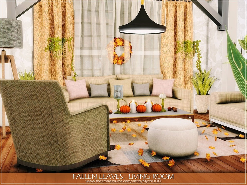 FALLEN LEAVES LIVING ROOM BY MYCHQQQ
