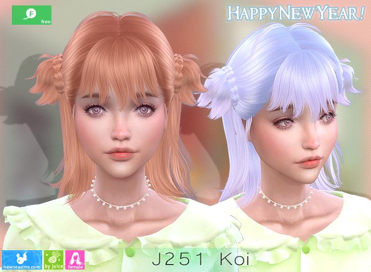 J251 KOI HAIR BY NEWSEA SIMS 4