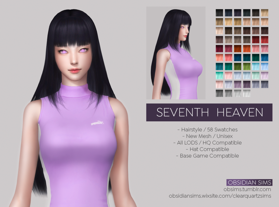 SEVENTH HEAVEN HAIRSTYLE BY OBSIDIAN SIMS