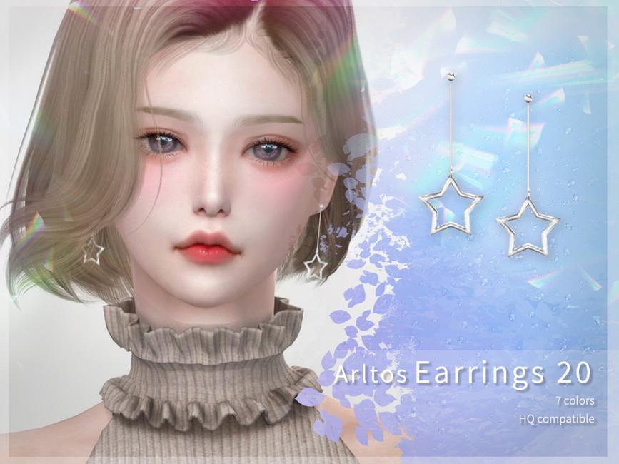 LONG STAR EARRINGS 20 BY ARLTOS